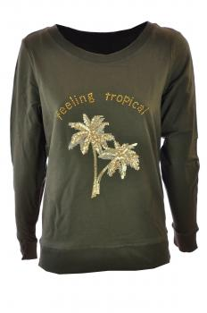 N352 sweater ronde hals feeling tropical