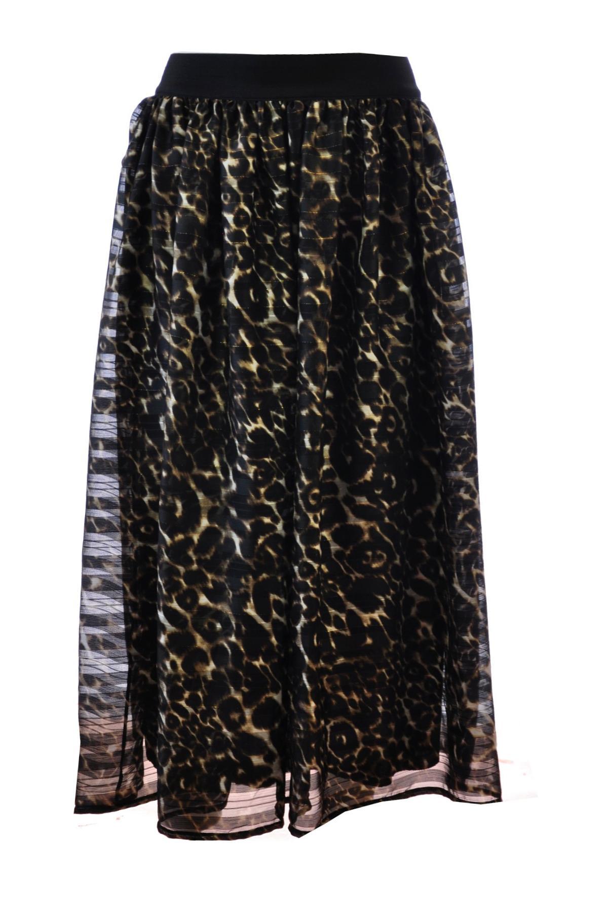 d5eb933c17dc45 Rok gouddraad leopard grof Zwart-bruin Fifilles - Nathylicious Webshop