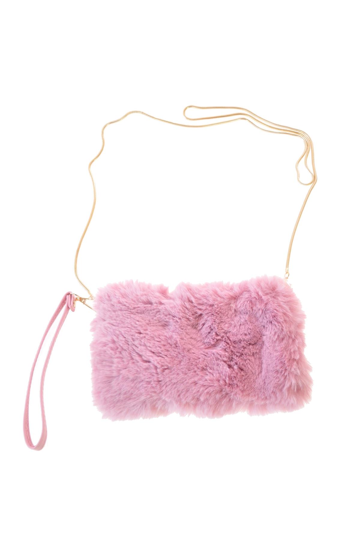 93001bddaa Mini-handtasje kunstbont faux-fur effen Roze Alex Max - Nathylicious ...